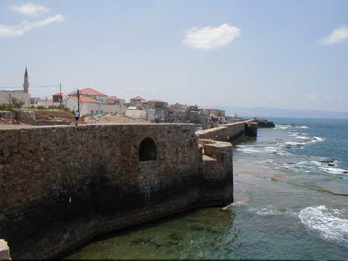 Acre - عكا : The western part of the city wall