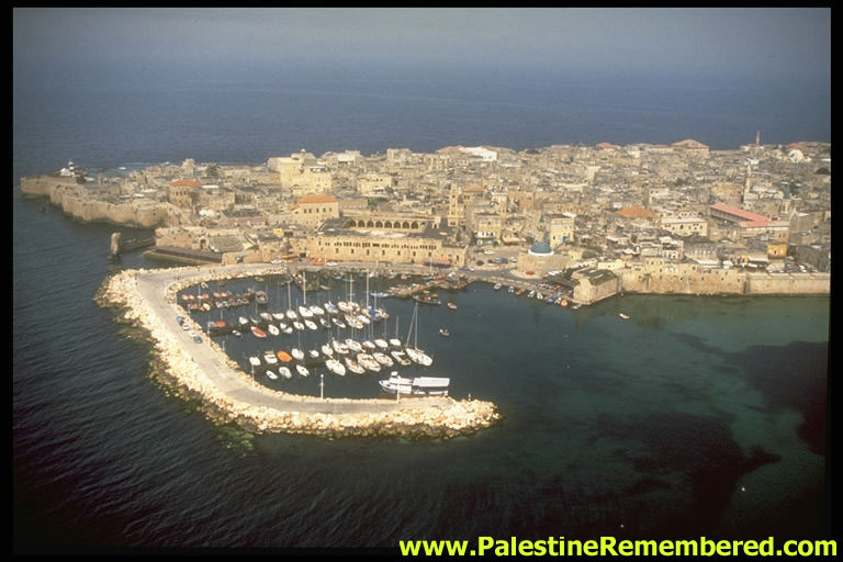 Acre - عكا : Aerial view of Acre looking west