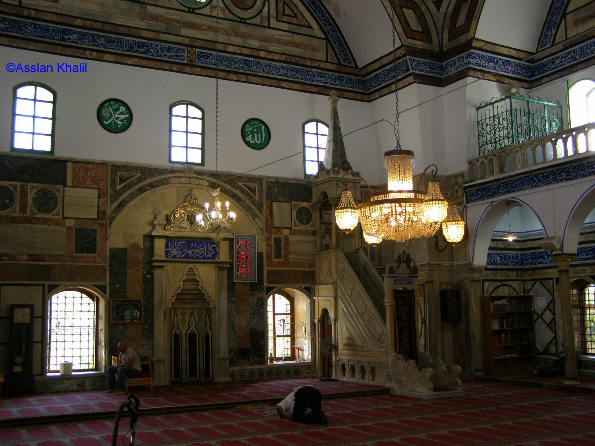 Acre - عكا : Al-Jazzar Mosque Inside View  - Akka