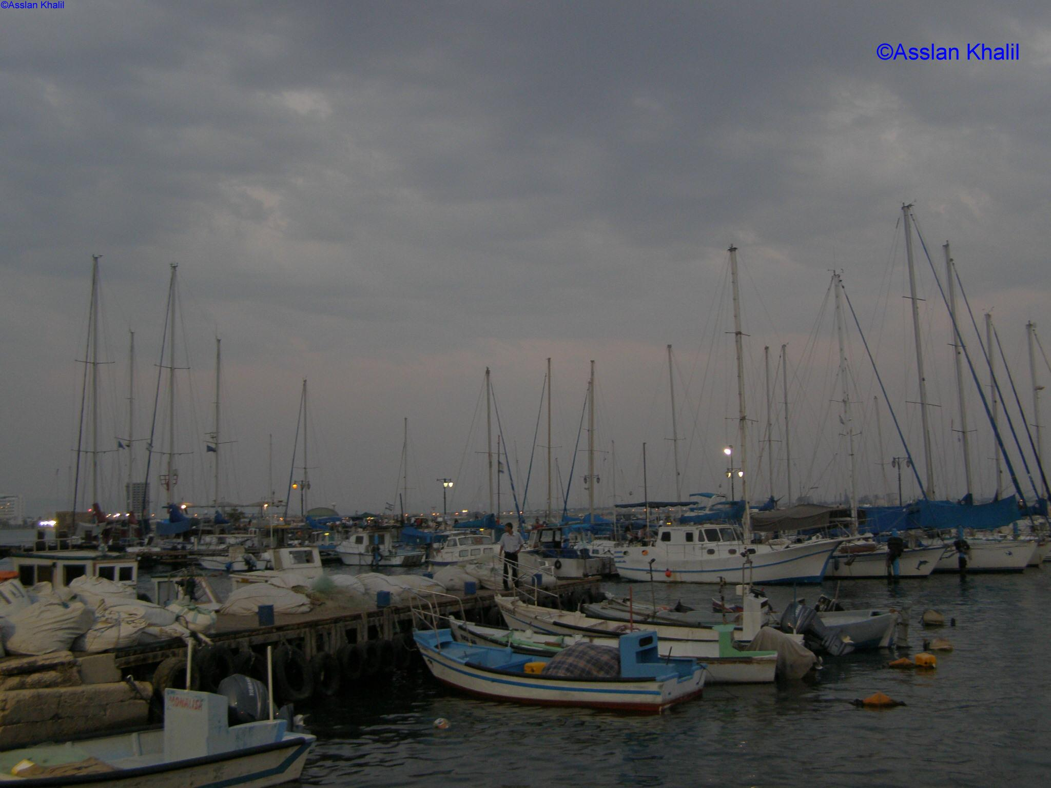 Acre - عكا : The Fishing Port at dusk