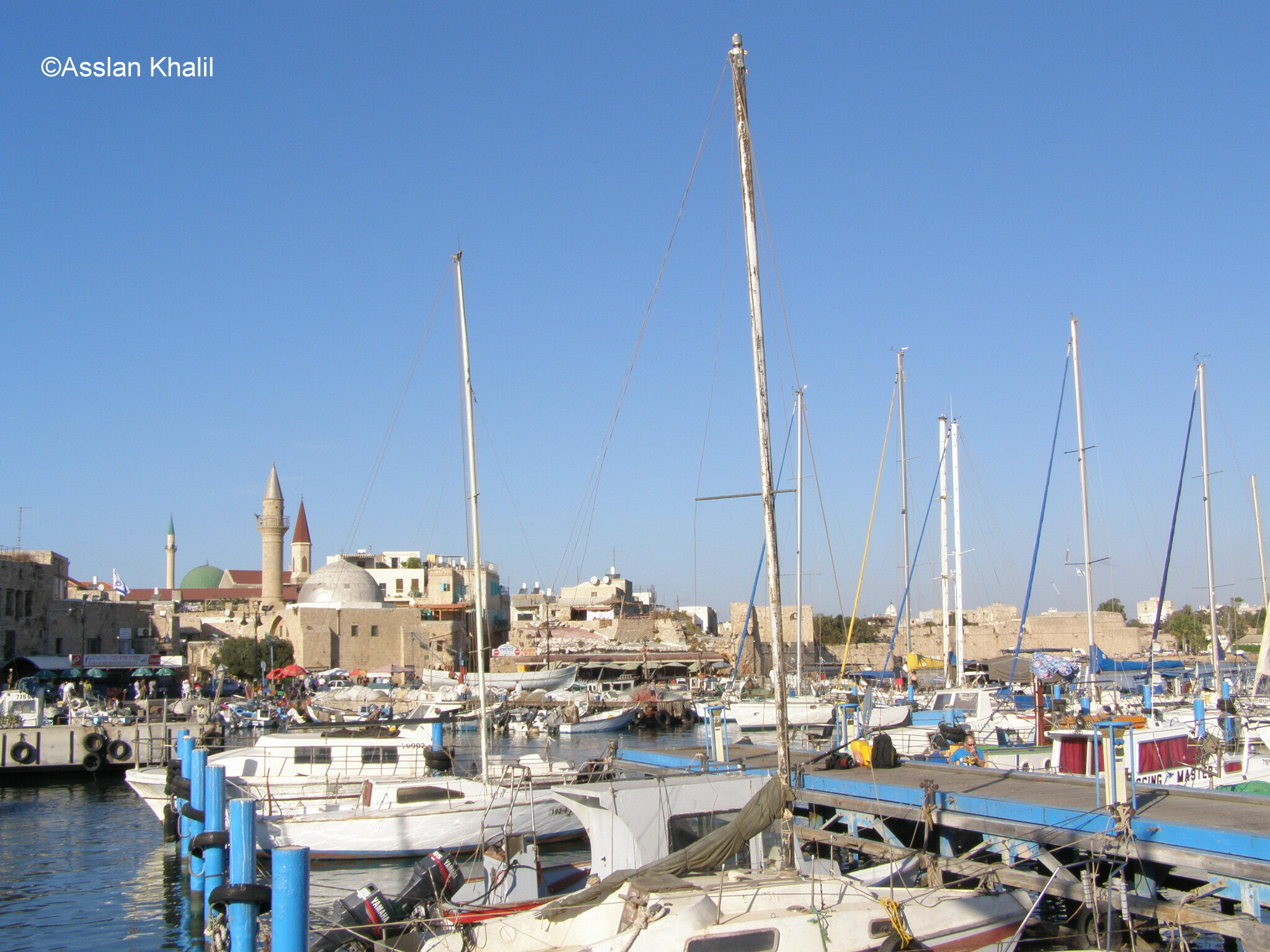 Acre - عكا : The Fishing Port and Mosque