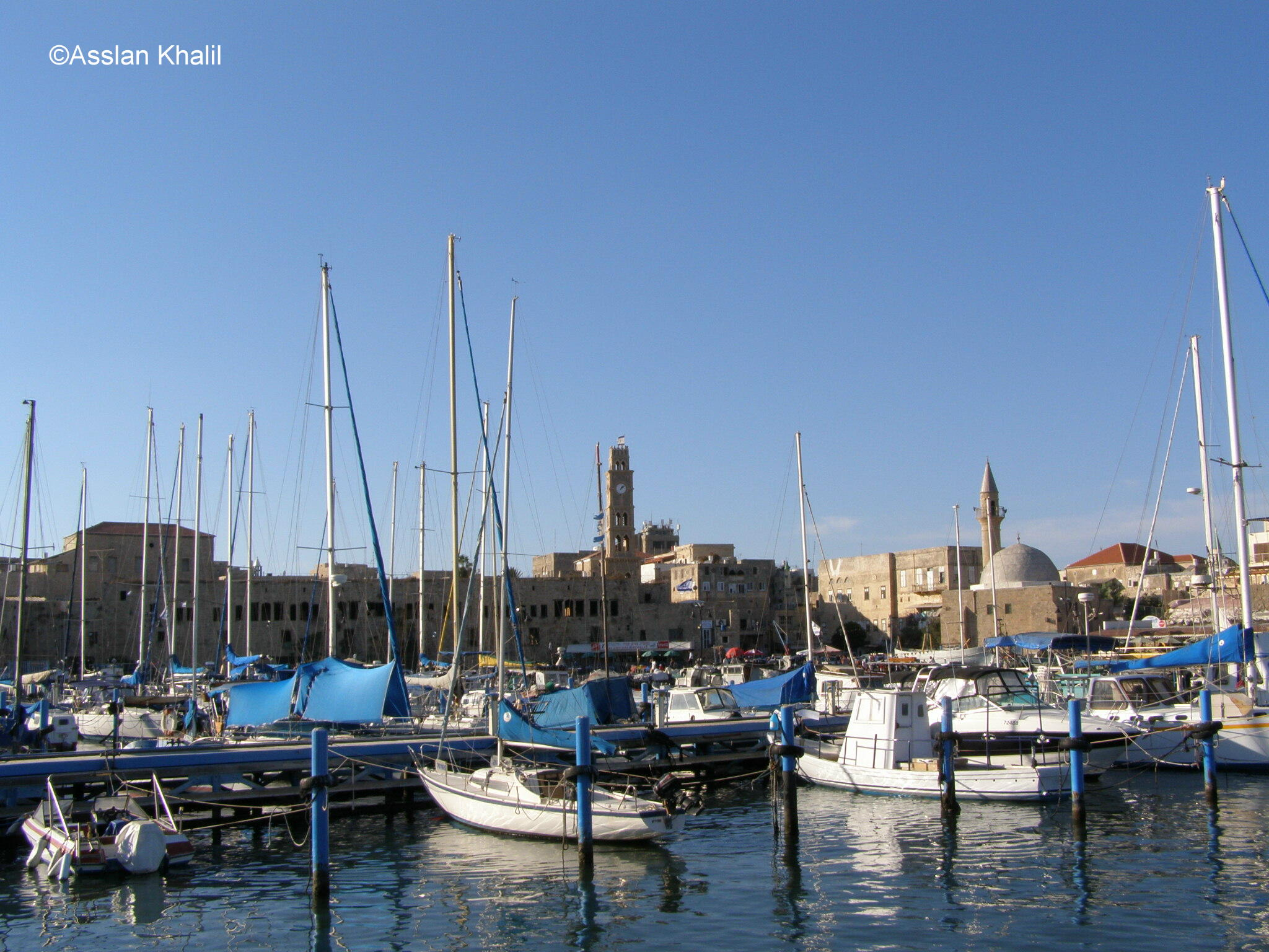 Acre - عكا : The Port and Mosques