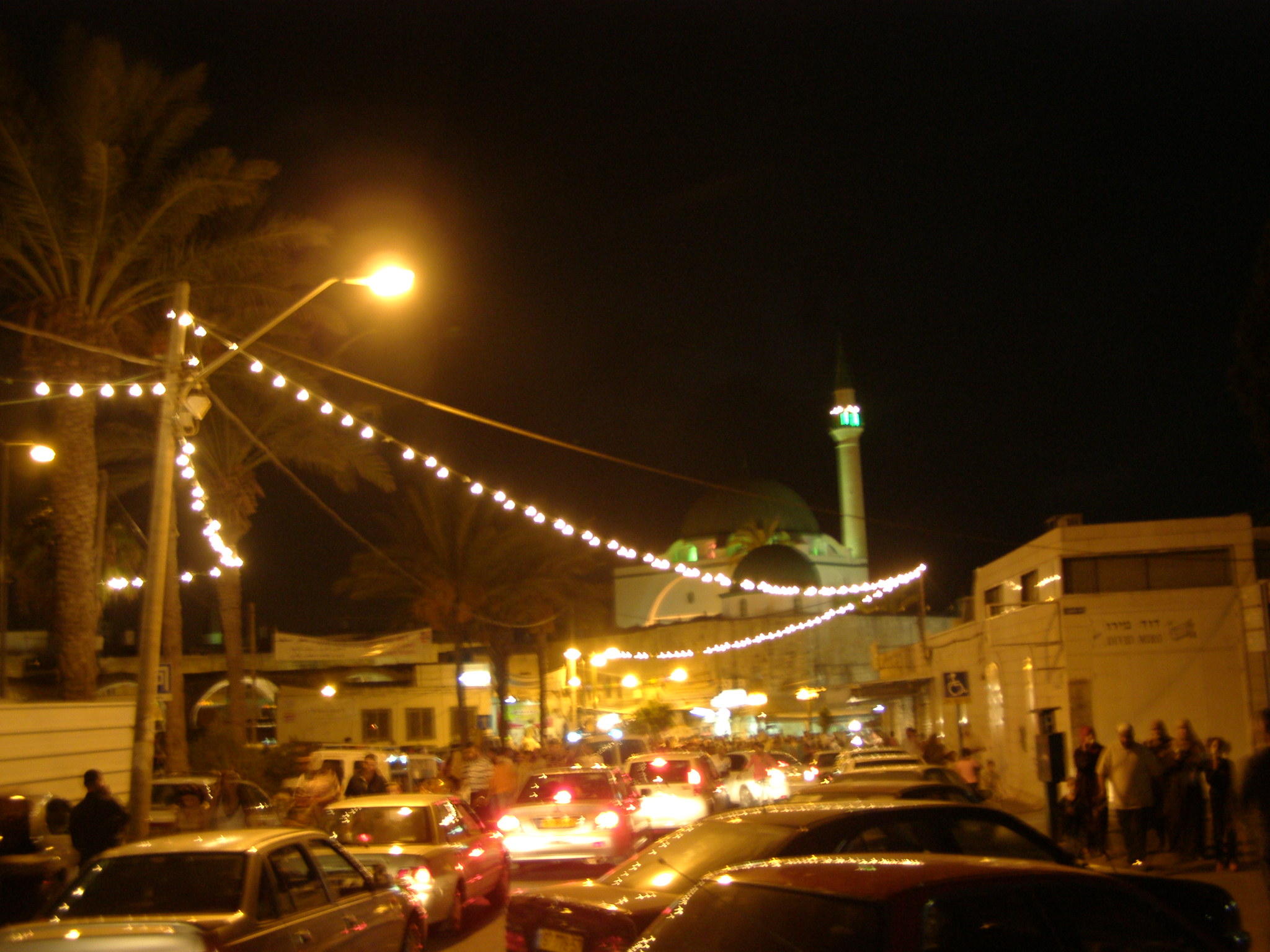 Acre - عكا : at nights - Aljazzar mosque