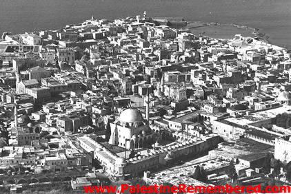 Acre - عكا : General View Of Acre Looking West, 1970