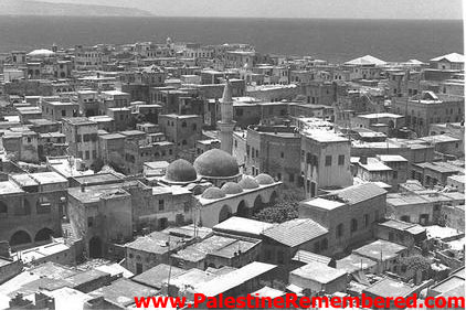Acre - عكا : General View Of Acre's Roof Tops Looking West, 1953