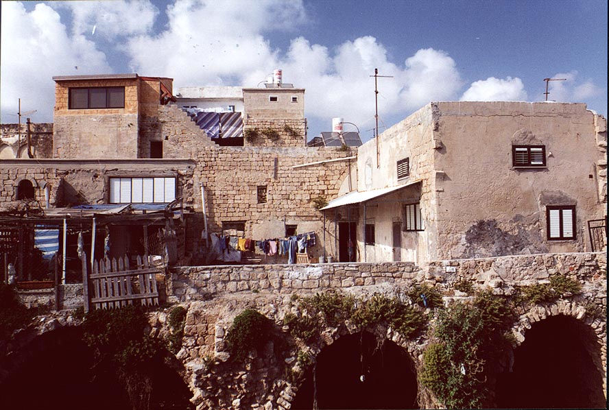 Acre - عكا : A cluster of Palestinian houses in Akka's old city #1, 2000