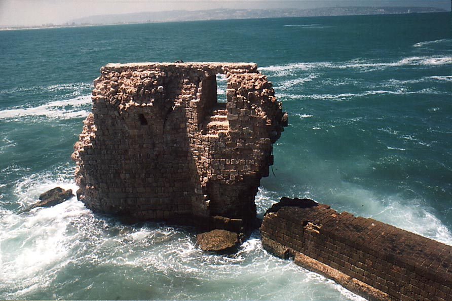 Acre - عكا : Old ruins nearby Acre's sea walls (2000)