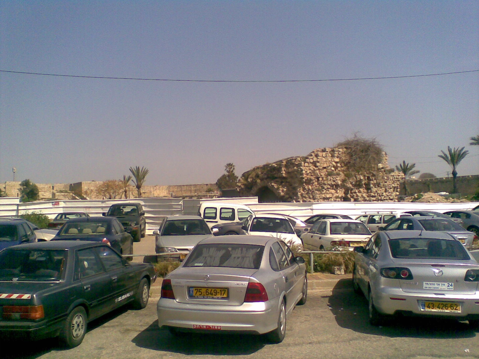 Acre - عكا : Aka - Old City/ Parking area & Aka Wall @ Friday Mornning 6th March -2008 captured by M. Hajier