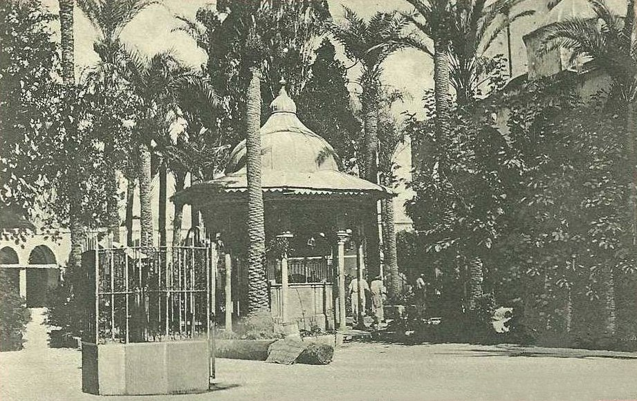 Acre - عكا : ACRE - Entrance to El Jazzar's Mosque, early 20th c.