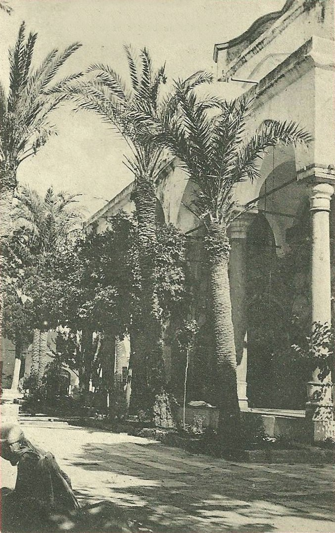 Acre - عكا : ACRE - Inner courtyard of  El Jazzar's Mosque, early 20th c.
