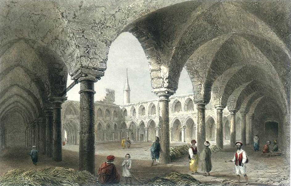Acre - عكا : ACRE - Ancient Buildings (W. H. Bartlett, 1837)