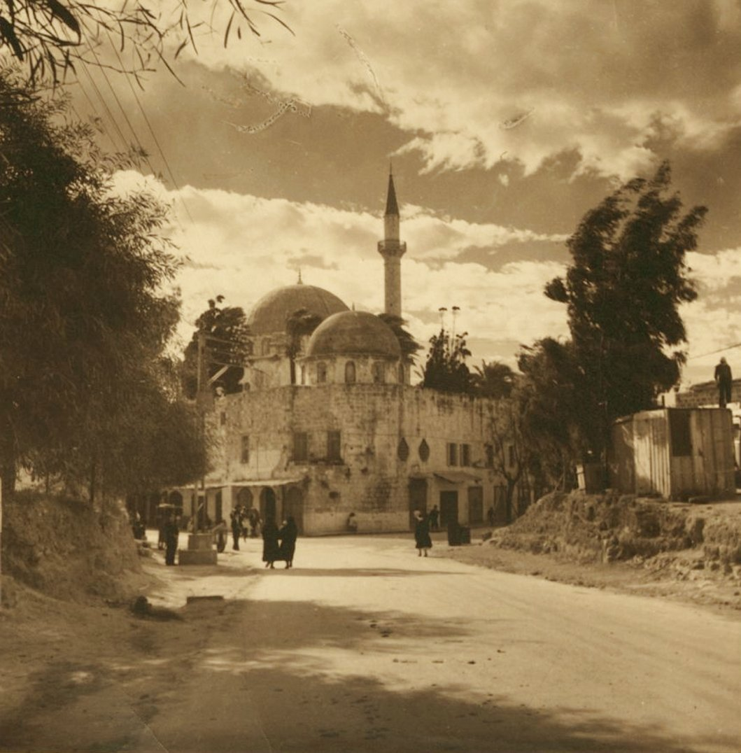 Acre - عكا : ACRE - Al-Jazzar mosque, 1937