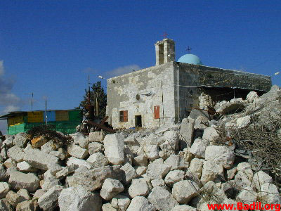 Iqrit - إقرت : Iqrit's church, the sole remaining building on village lands
