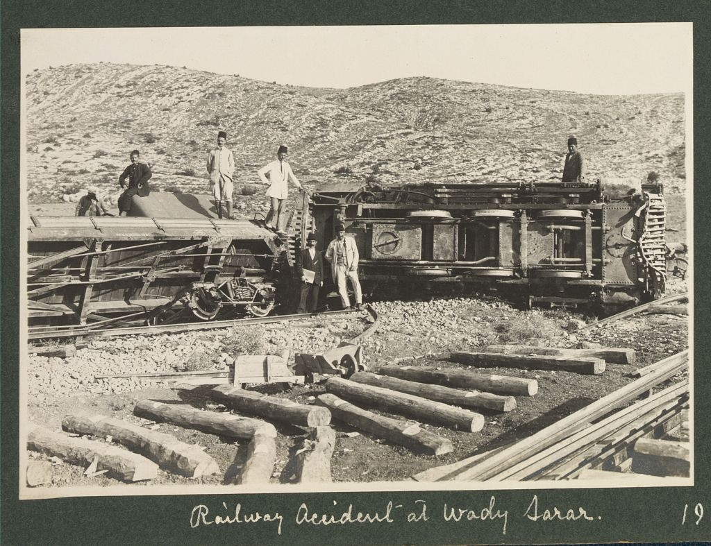 Beersheba - بئر السبع : rail road in wadi sarar