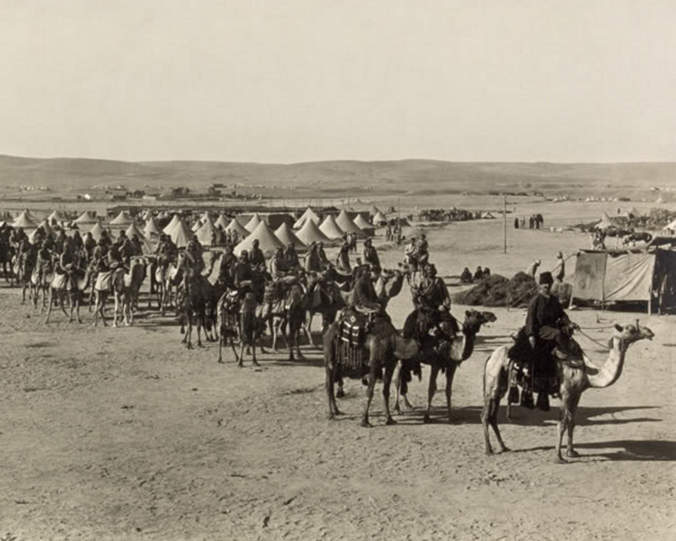 Beersheba - بئر السبع : BEERSHEBA - Early to mid. 20th c. - 31 - The Camel Corps at Beersheba, 1915