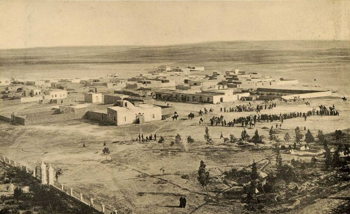 Beersheba - بئر السبع : BEERSHEBA - Early to mid. 20th c. - 34 - Partial view of the desert town, circa 1911