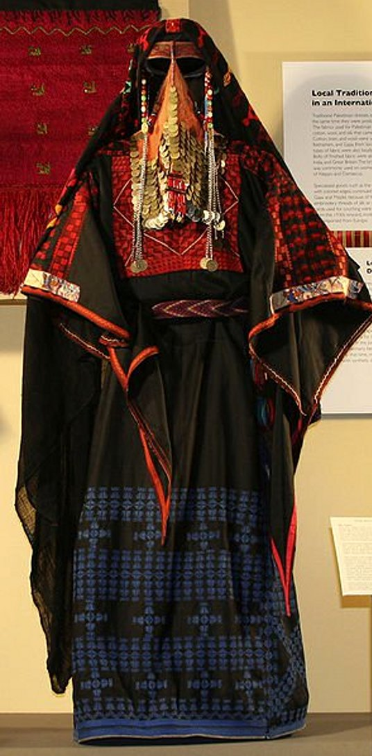 Beersheba - بئر السبع : BEERSHEBA - traditional costume from Beersheba (The Oriental Institute, Chicago).