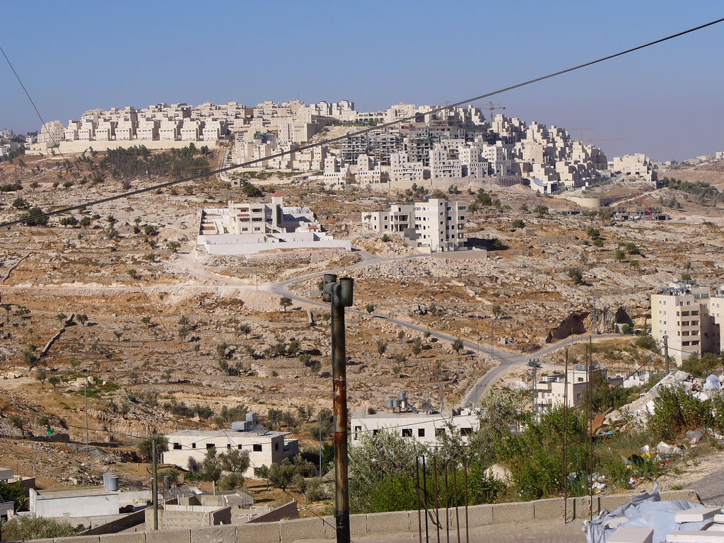 Har Homa (<B><font size=2>Exclusive Jewish Colony</font></B>): General view taken from Bethlehem