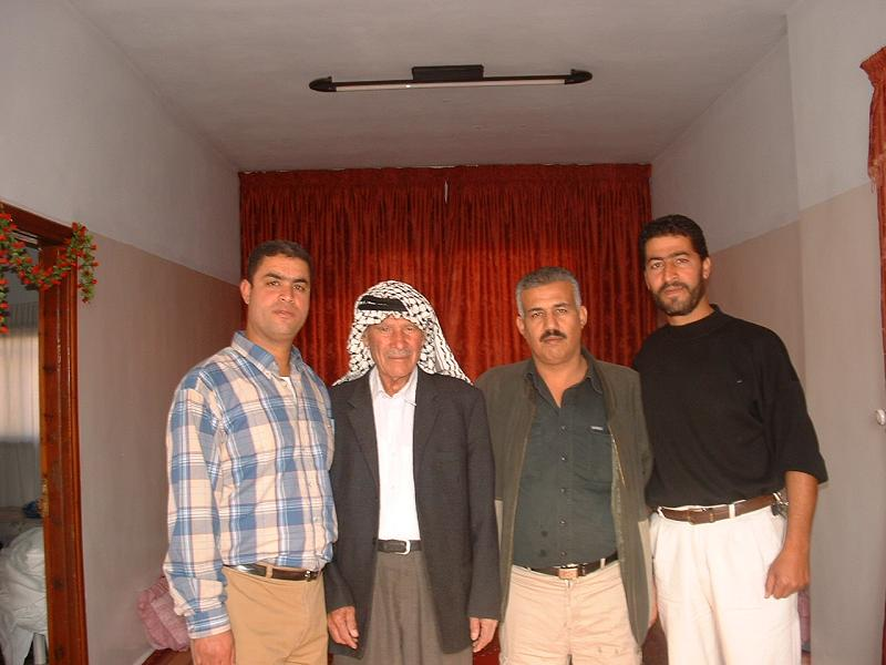 al-Faluja - الفالوجة : Ishaq Awadh Ayyoub and Hajj Mohd Abed Khaled Ayyoub with Sons Mahmoud and Abdul Karim