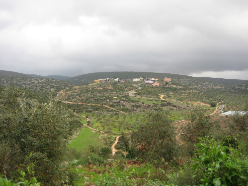 Barta'a - برطعه : This is KHERBET Dar Abdallah AL-Younes, Located around 5 Miles East of BARTA'A.The mountain straight ahead called AL-3ARQOOB, where you find AL-AMRA, close to EM AL-REEHAN