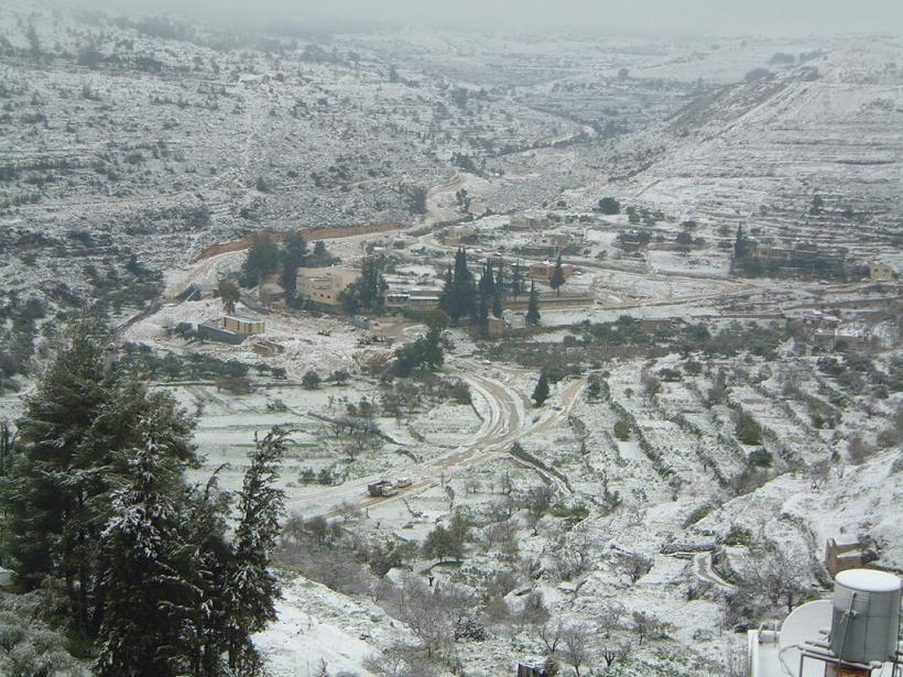 Battir - بتّير : General view during the snow #5