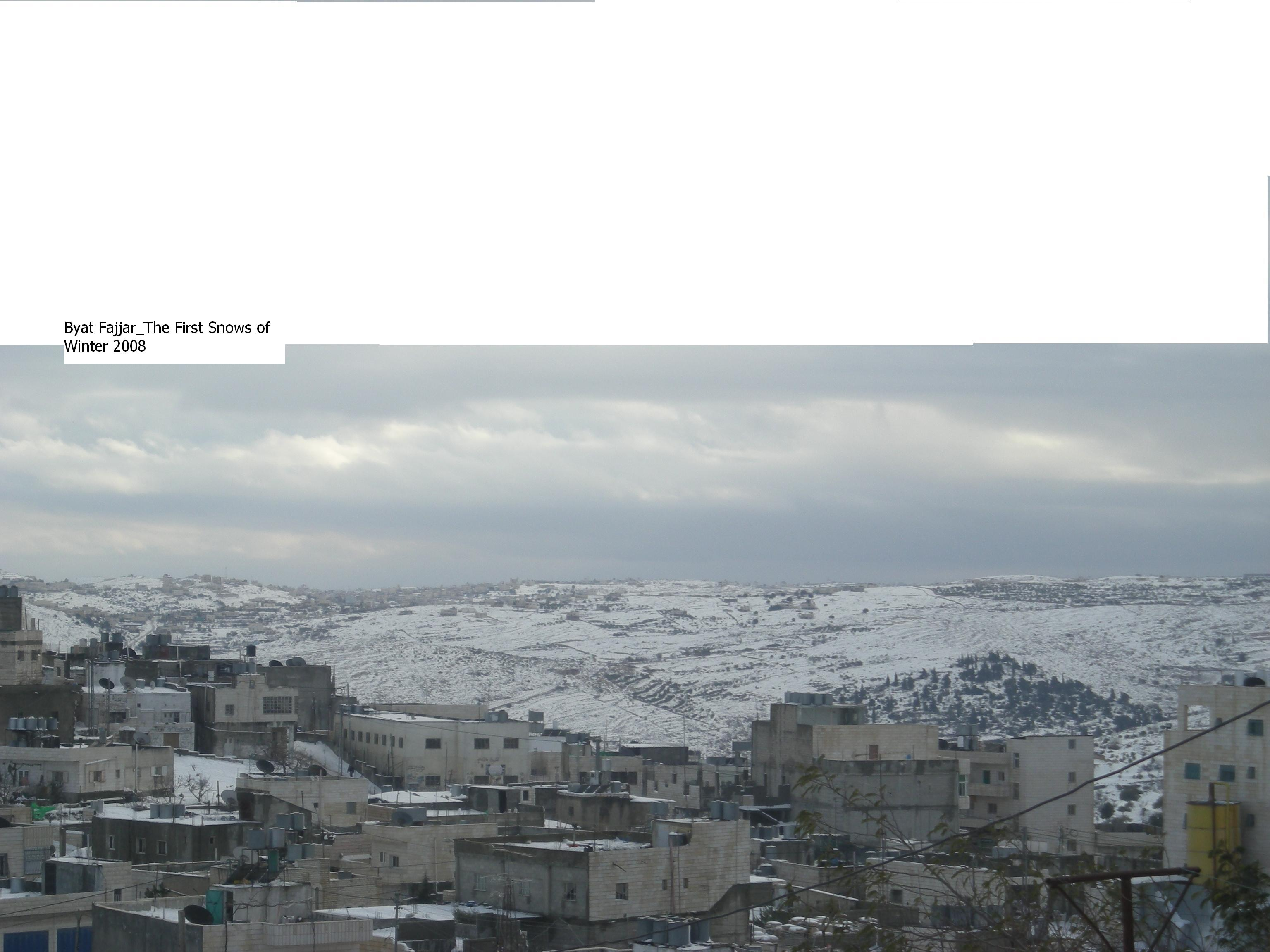 Bayt Fajjar - بيت فجّار : The First Snows of Winter 2008