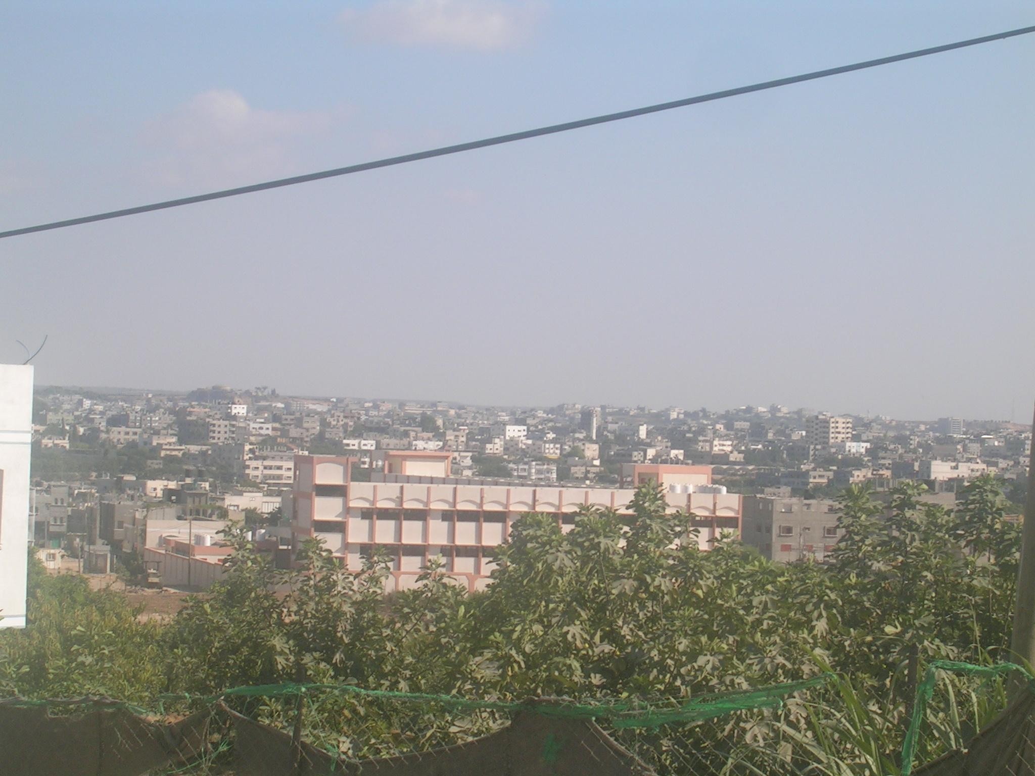 General view with Jabalya Refugee Camp