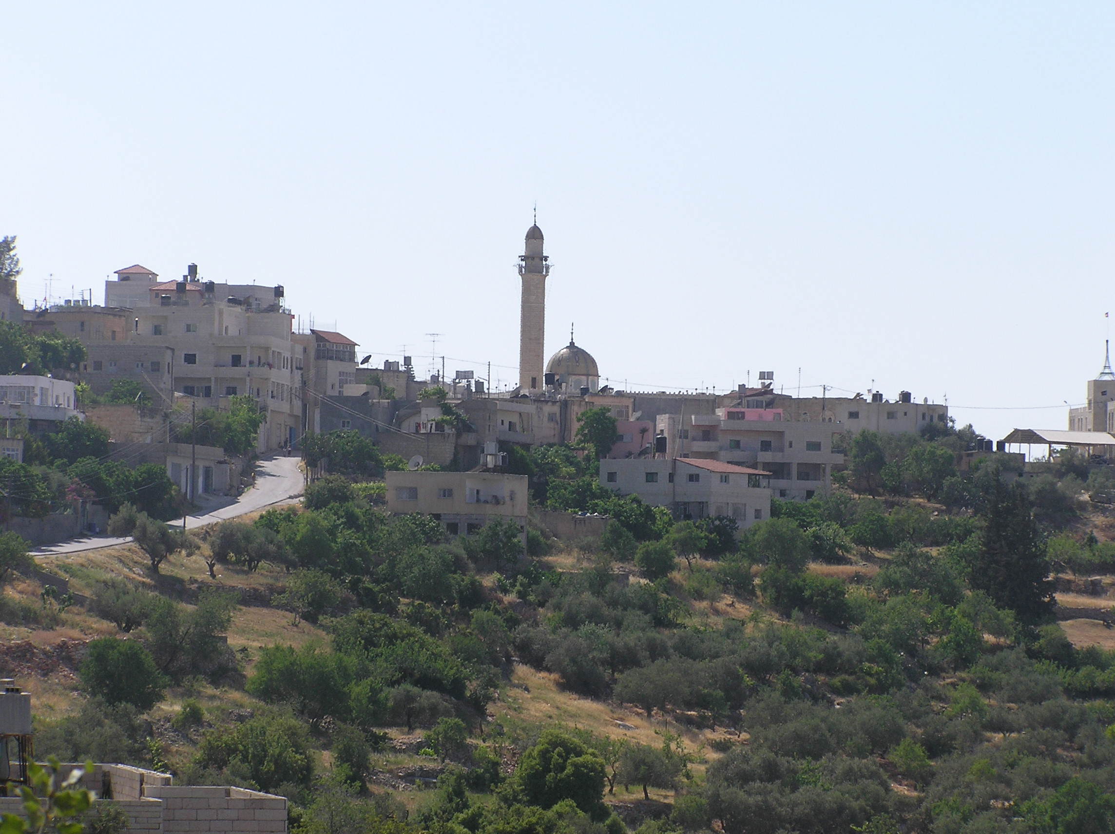 Bayt I'nan - بيت عنان : Beit I'nan - A General View From Its Surrounding Hills.