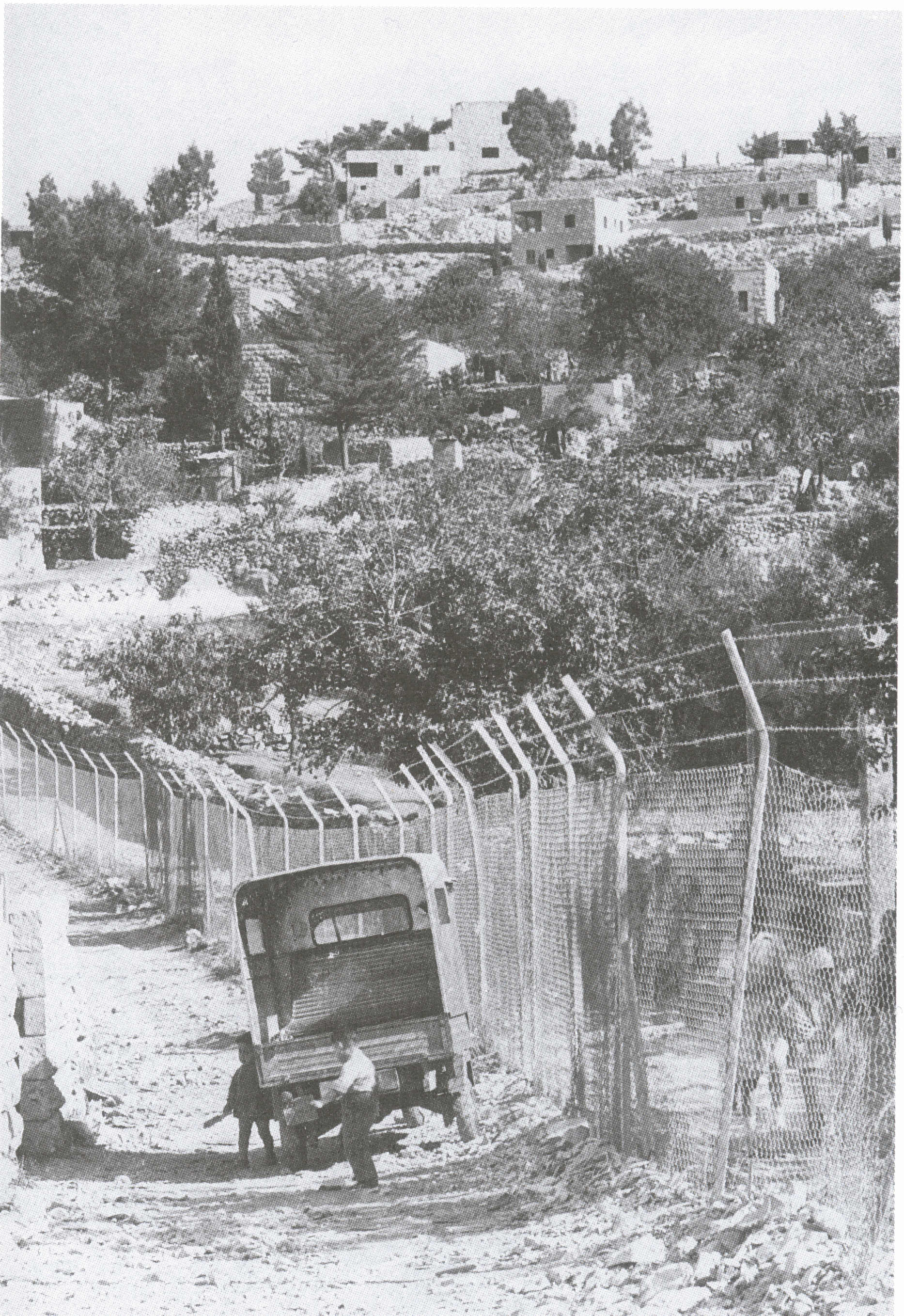 Bayt Safafa - بيت صفافا : General view taken from the Israeli occupied section (1964)