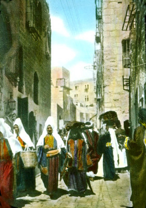 Bethlehem - بيت لحم : Woman of Bethlehem 8 (late 19th early 20th c.)