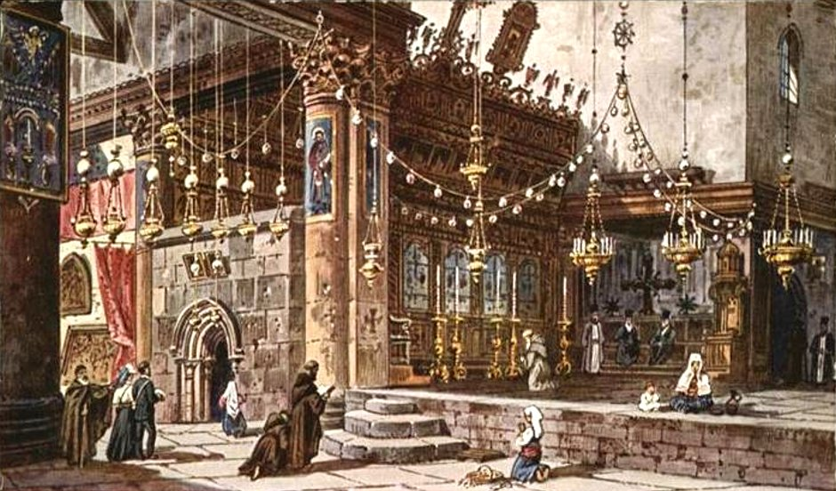 Bethlehem - بيت لحم : Church of the Nativity, late 19th c. 1