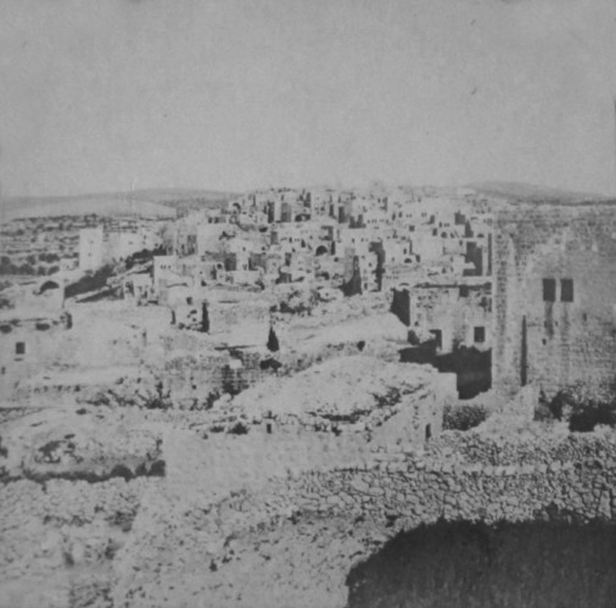 Bethlehem - بيت لحم : PALESTINE - Bethlehem, 1890s (early 20th c.) 84 - A general view from the South, circa 1870s (Per Reem Ackall)