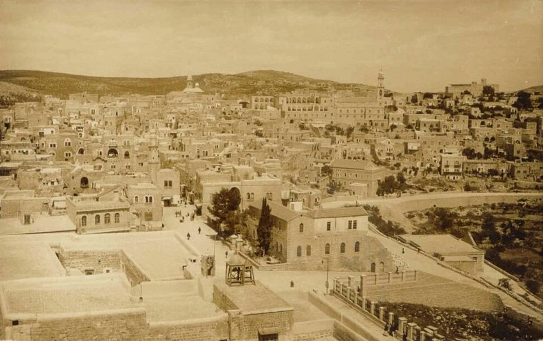 Bethlehem - بيت لحم : PALESTINE - Bethlehem, 1890s (early 20th c.) 91 - panoramic view, 1920s (Per Reem Ackall)