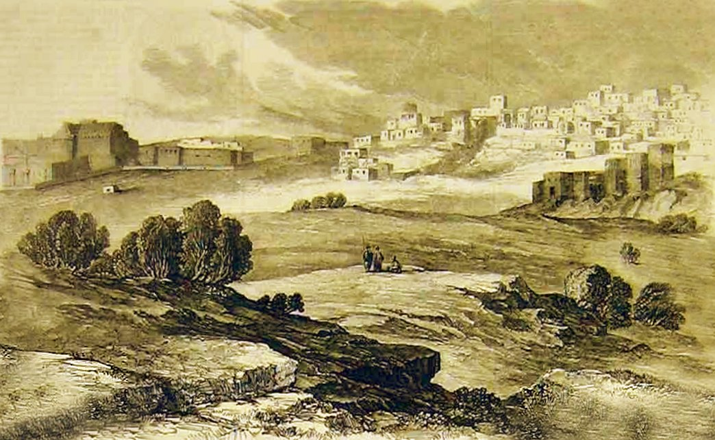 Bethlehem - بيت لحم : PALESTINE - Bethlehem, 1890s (early 20th c.) 116 - A partial view, circa 1858 (Per Reem Ackall)