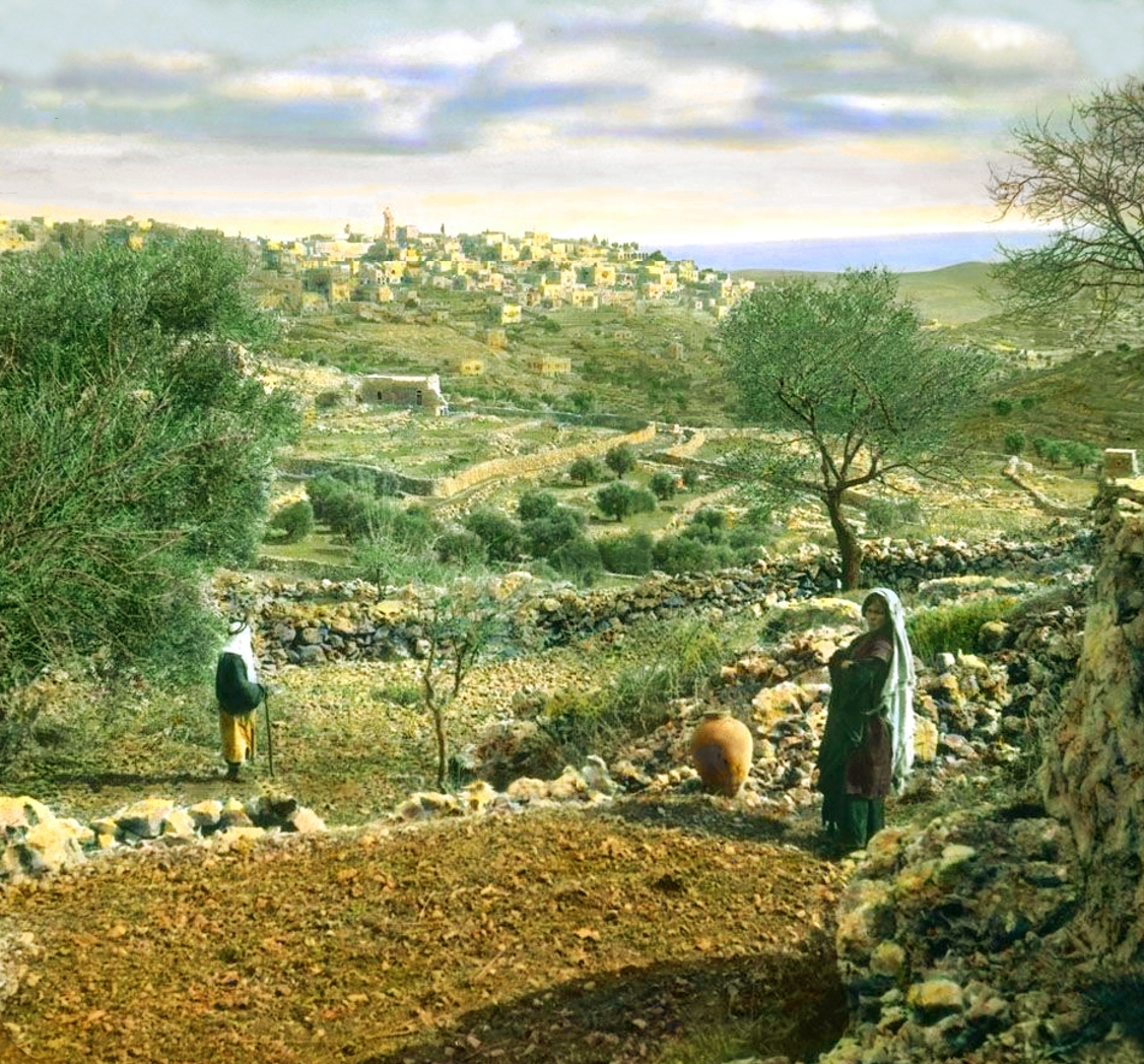 Bethlehem - بيت لحم : PALESTINE - Bethlehem, 1890s (early 20th c.) 141 - GLORIOUS PALESTINE (Colourised) (Per Reem Ackall)