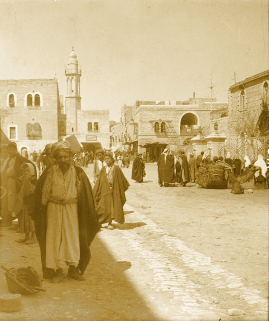 Bethlehem - بيت لحم : PALESTINE - Bethlehem, 1890s (early 20th c.) 148 - On a Market Day (UCR-California Museum of Photography) (Per Reem Ackall)