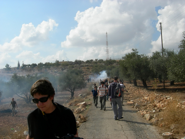 Bil'in - بلعين : During a protest against the apartheid wall #2