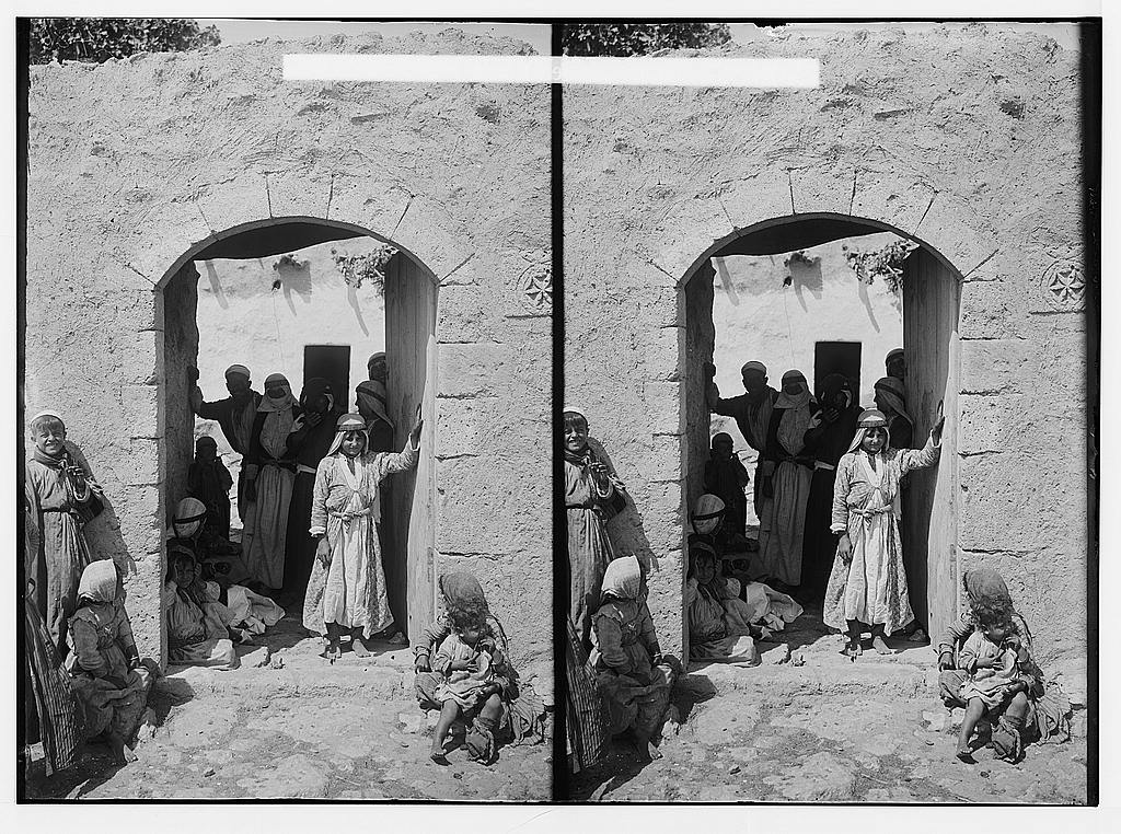 Daliyat al-Carmel - دالية الكرمل : A scene in the village, Matson collection. (1900-1905)