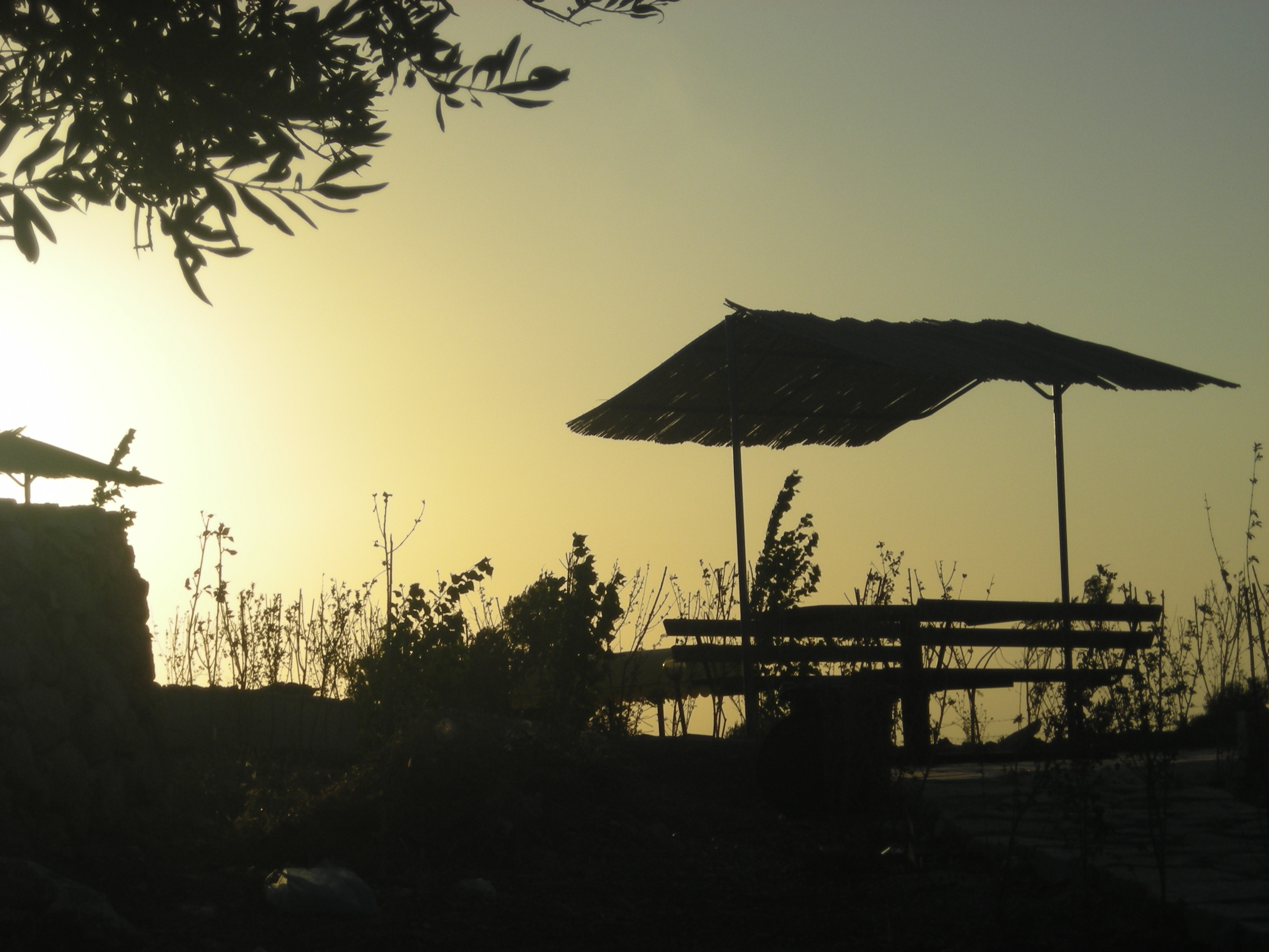 Dayr Ghassana - دير غسّانه :  the sun set from alkhawas park
