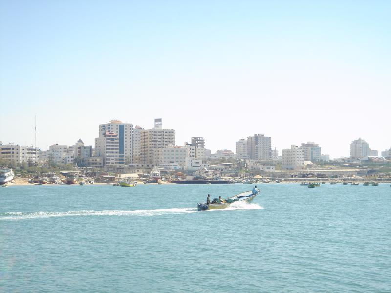Gaza - غزة هاشم : General view #4 from the sea looking east
