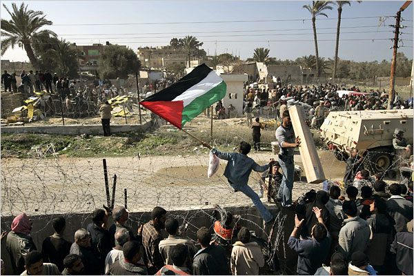 Gaza Jail Break - فك طوق الأسر عن اهل غزة : Watch out Mubarak, we are coming to shop.