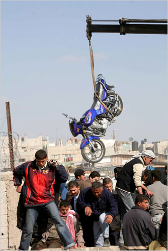 Gaza Jail Break - فك طوق الأسر عن اهل غزة : More weapons of mass destruction: Motorcycles bought from Egyptians