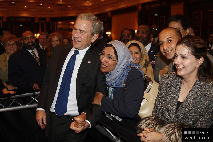 Gaza Jail Break - فك طوق الأسر عن اهل غزة : America's Arab cronies are dying to be hugged and kissed from the war criminal Pres. Bush as Gaza starves and Iraq burns, any dignity left?