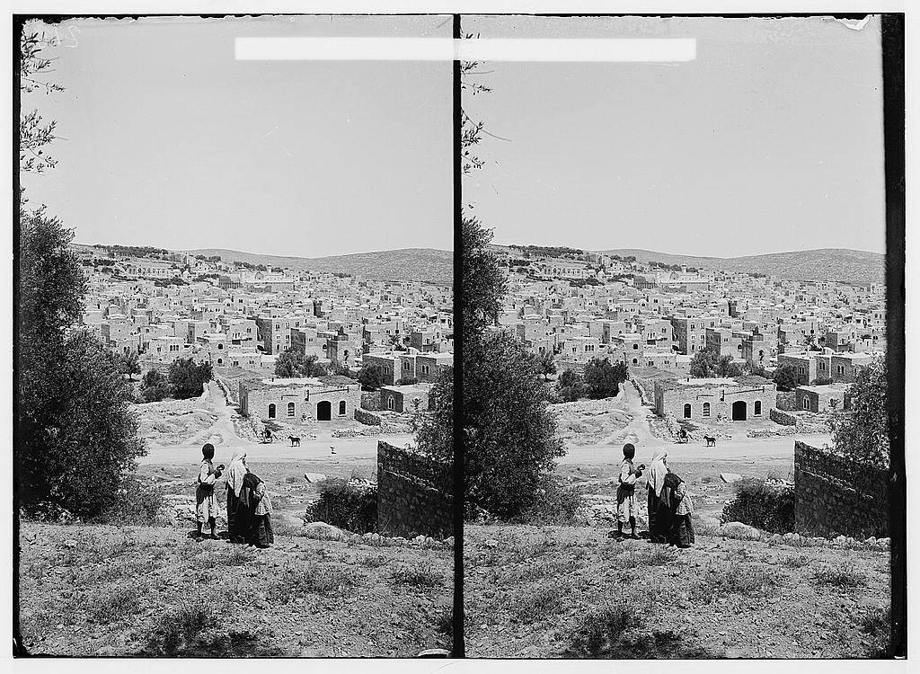 Hebron - الخليل : ِGeneral view for the city, Matson Collection.  (1920)