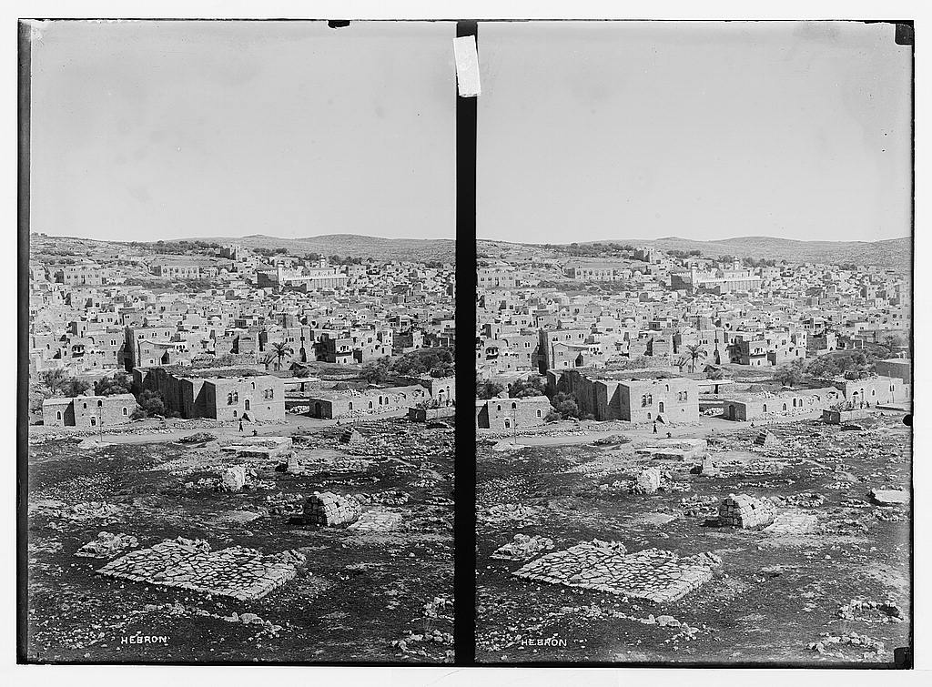 Hebron - الخليل : ِUndated general view for the city, Matson Collection.