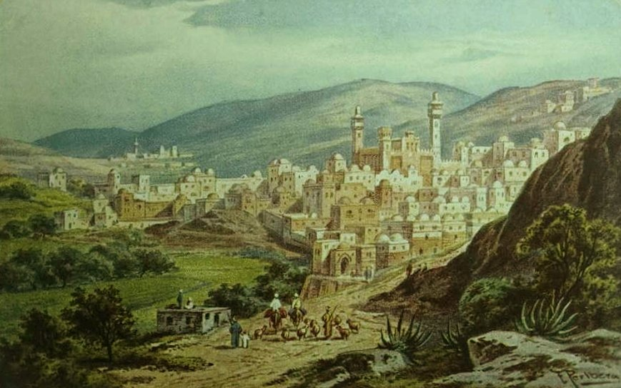 Hebron - الخليل : HEBRON - Engraving 8 - ca. 1830s