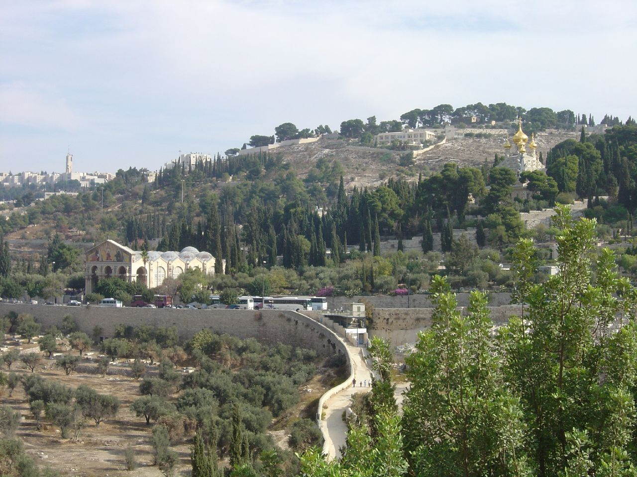 al-Tur/Mount of Olives -  الطور : General view taken from the valley of Kidron