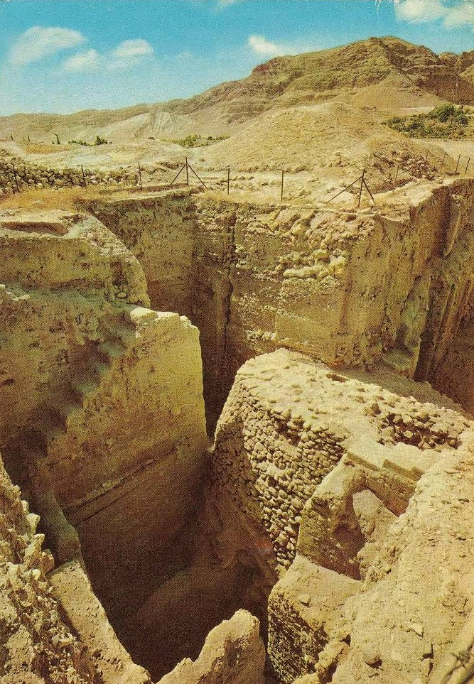 Jericho - أريحا : JERICHO - 1960s 5 - Ruins of ancient Jericho (11 thousand years old)
