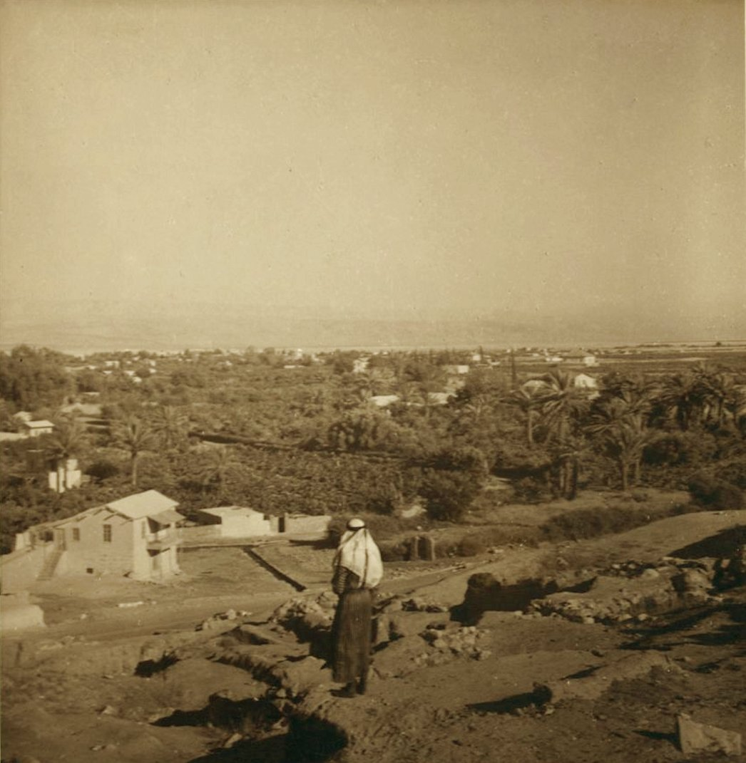Jericho - أريحا : JERICHO - Jericho from the ancient Hill of Jericho, 1937