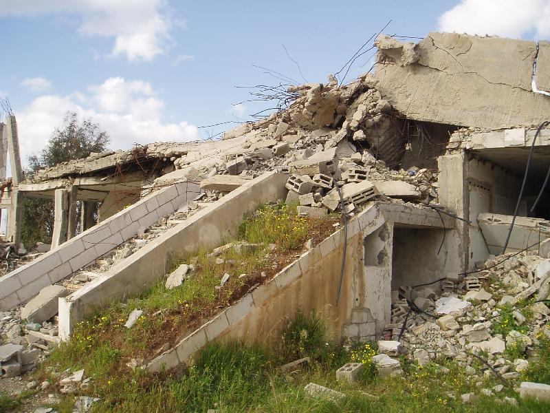 Jinin - جنين : The Destroyed Police Fort